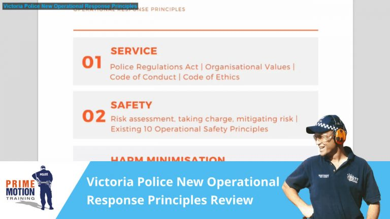 Victoria Police New Operational Response Principles Review