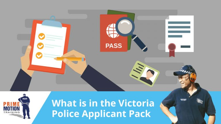 What is in the Victoria Police Applicant Pack