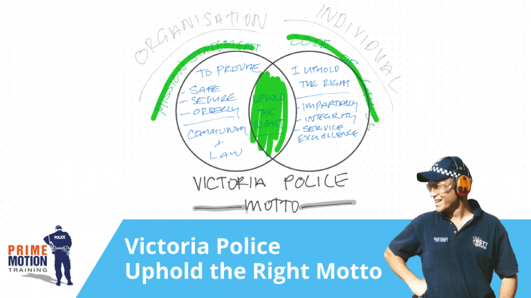 Victoria Police - Uphold the Right Motto